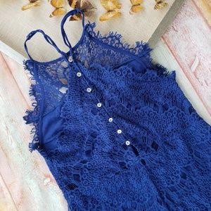 Free People Dresses - Free People Blue She's Got This Lace Sheath Dress